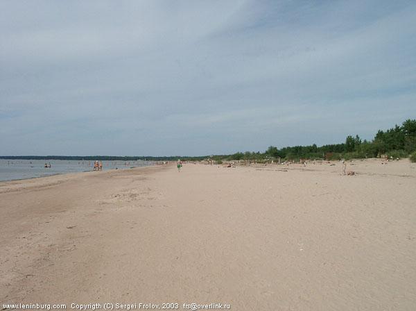 Вид на пляж натуристов (нудистов) между ст. Солнечное и ст. Курорт