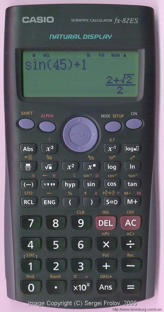 Инструкция по использованию калькулятора casio fx 82es