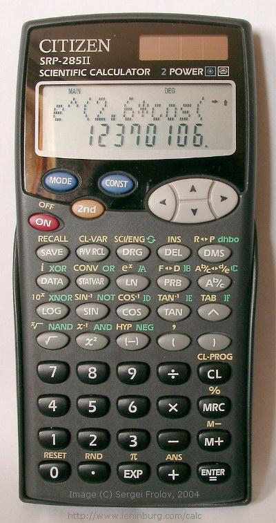 калькулятор citizen srp-280 инструкция
